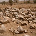 Stones gathered by the population
