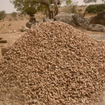 Gravel gathered by the population